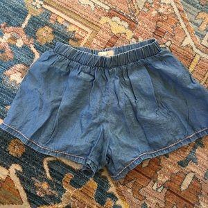 Girls Peek chambray shorts